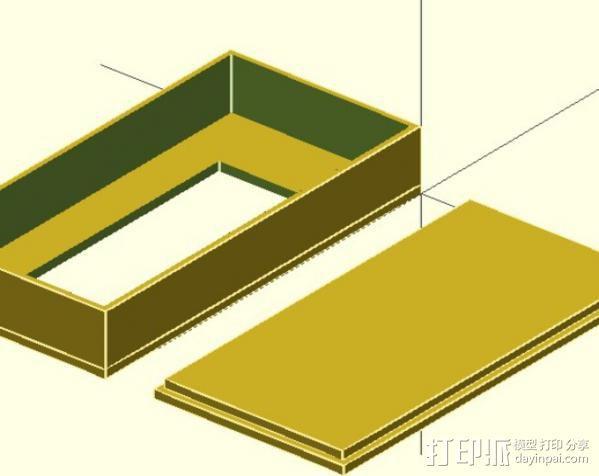 液晶显示屏外壳 3D模型  图3