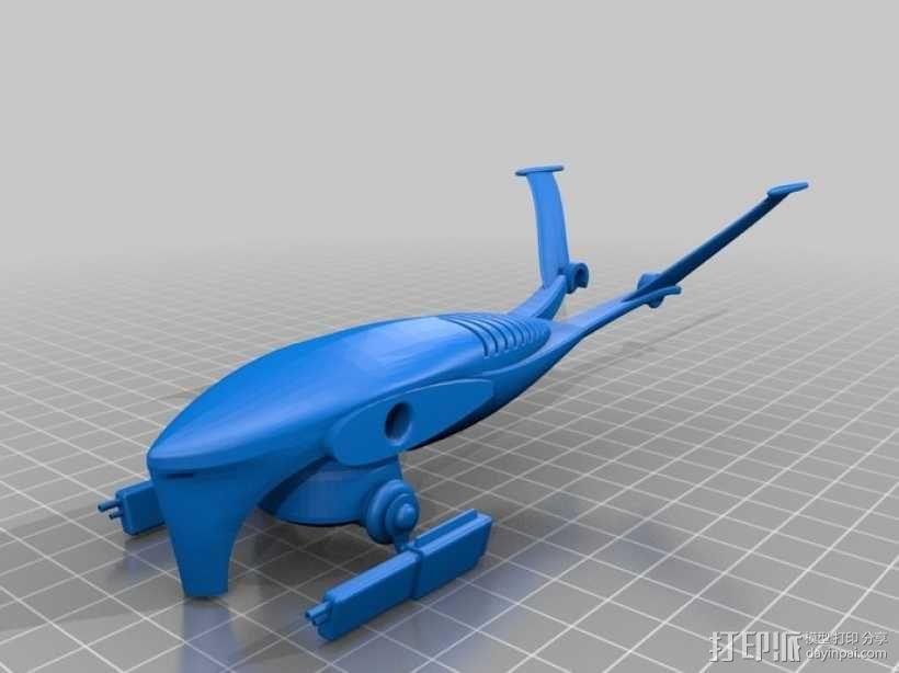 T-1 Aerial猎人杀手无人机 3D模型  图3