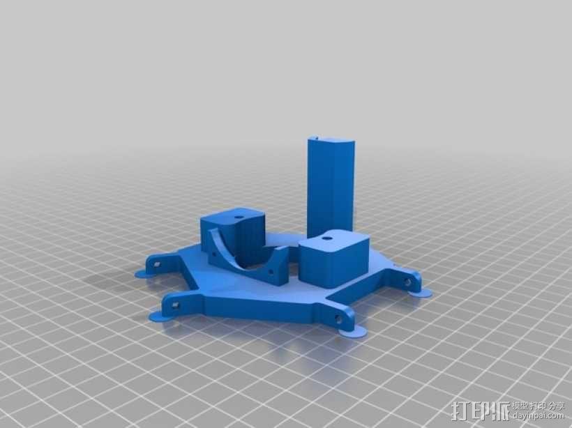 Delta-Pi Reprap 3D 打印机 3D模型  图2