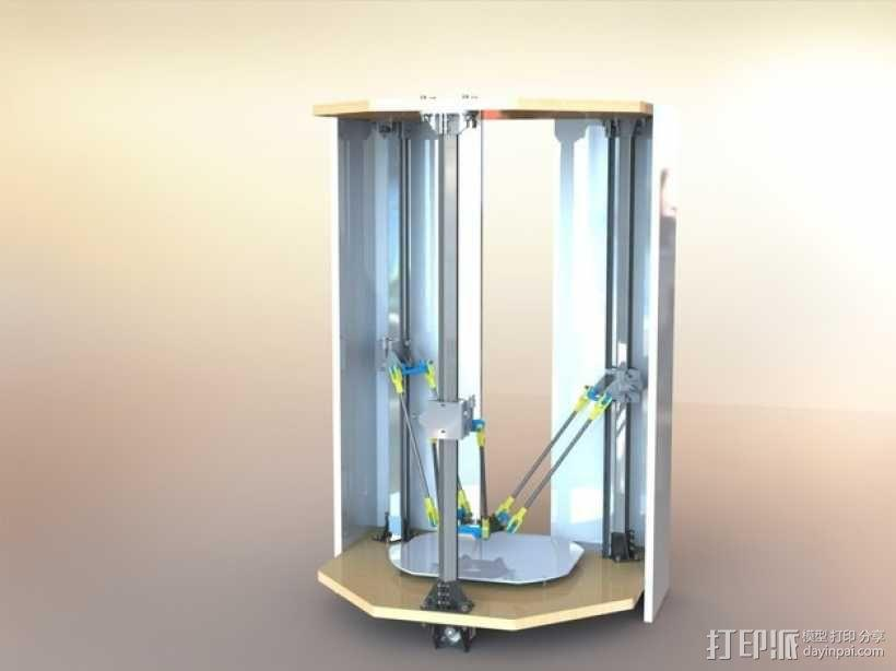 Delta-Pi Reprap 3D 打印机 3D模型  图1