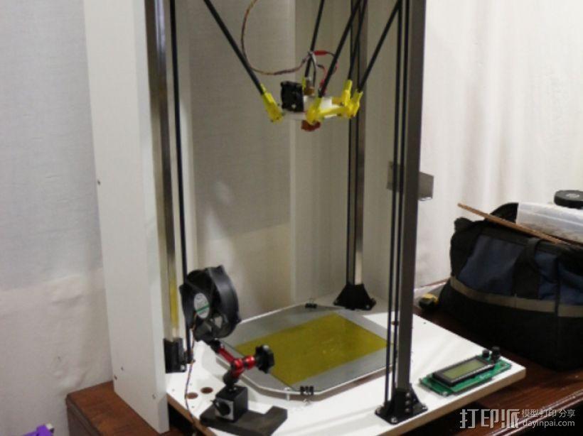 Delta-Pi Reprap 3D 打印机 3D模型  图5