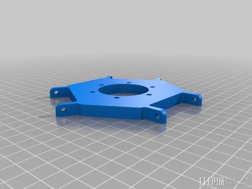 Delta-Pi Reprap 3D 打印机 3D模型  图11