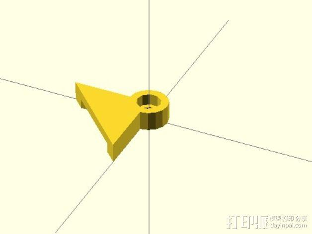 玻璃床支撑器 3D模型  图1