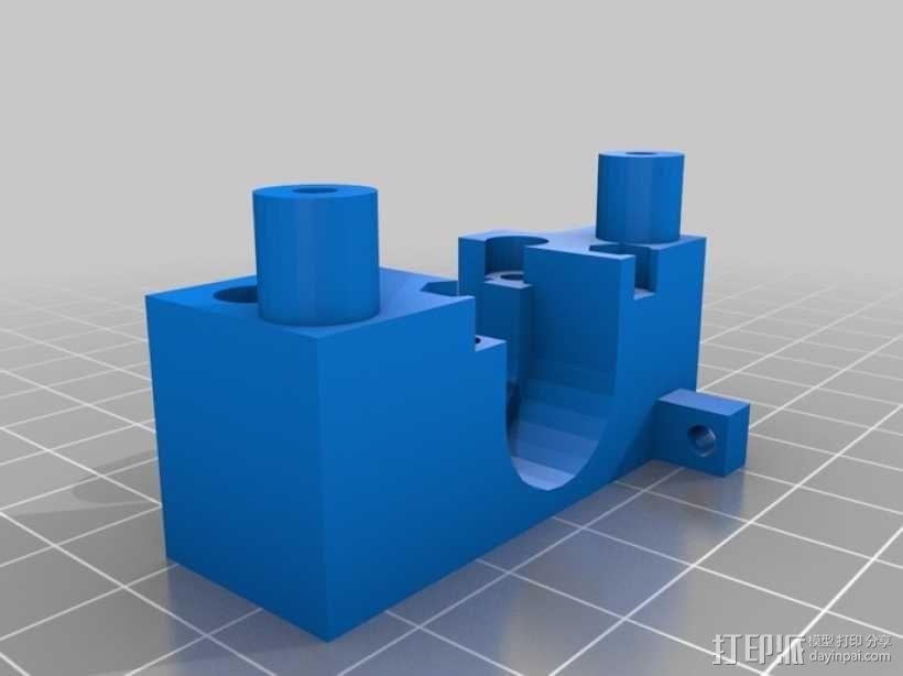 Solidoodle Jigsaw挤出机 3D模型  图3