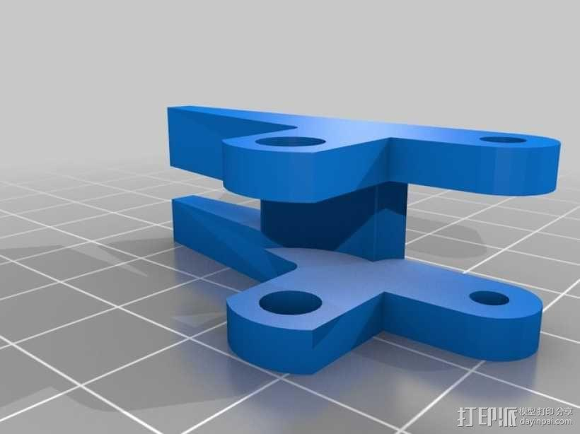 Solidoodle Jigsaw挤出机 3D模型  图2