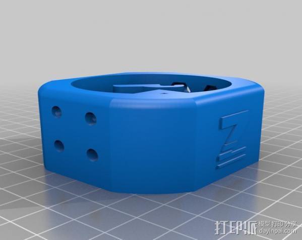 电磨支架 3D模型  图3
