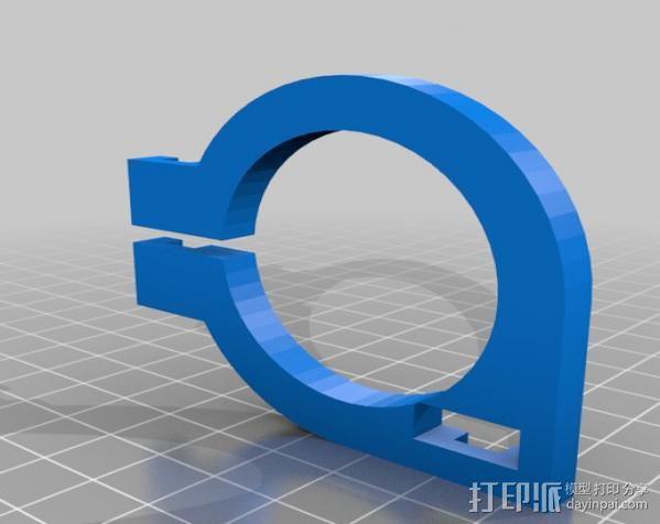 直线丝杆导轨 3D模型  图3