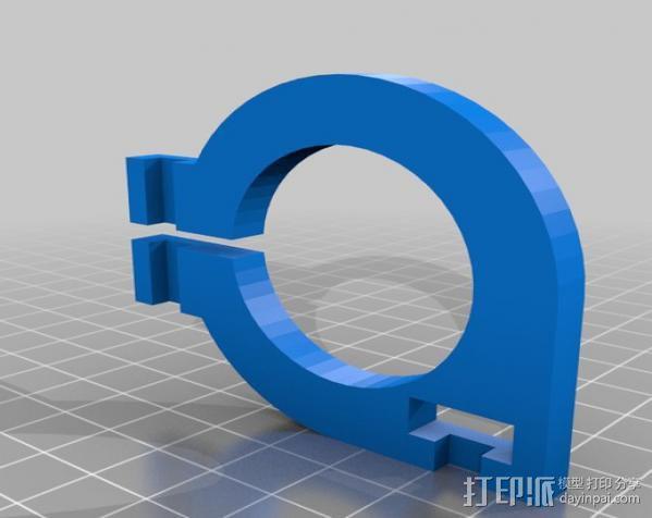 直线丝杆导轨 3D模型  图4