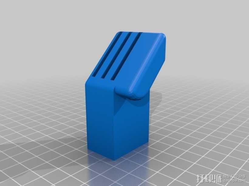 SD卡收纳槽 3D模型  图2