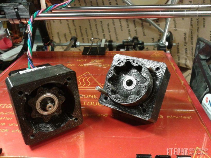 圆内螺线齿轮盒 3D模型  图1