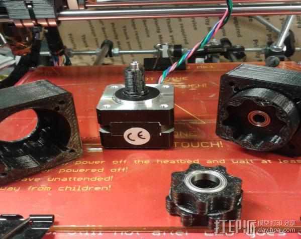 圆内螺线齿轮盒 3D模型  图3