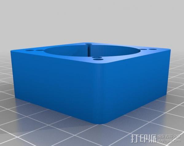 圆内螺线齿轮盒 3D模型  图4