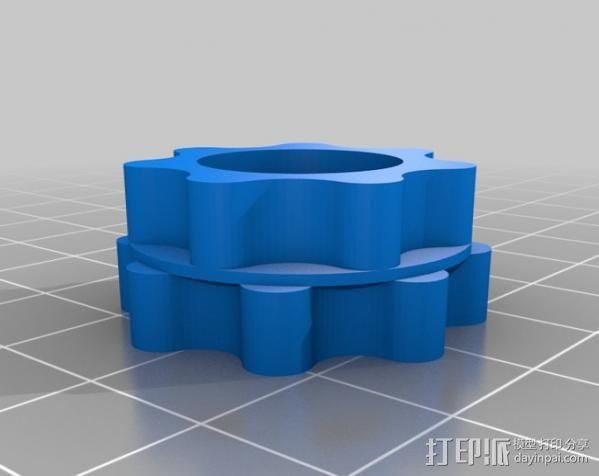 圆内螺线齿轮盒 3D模型  图7