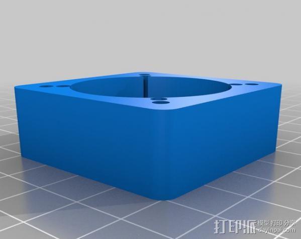 圆内螺线齿轮盒 3D模型  图6