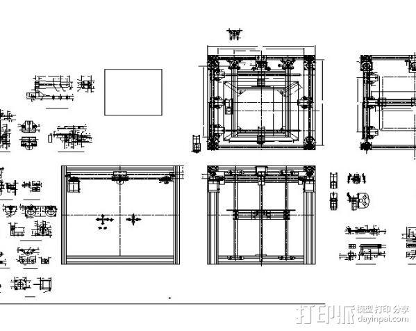 H Configured 3D 打印机 3D模型  图5