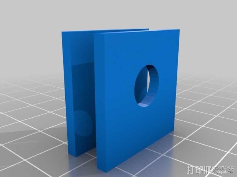打印机框架连接器  3D模型  图1