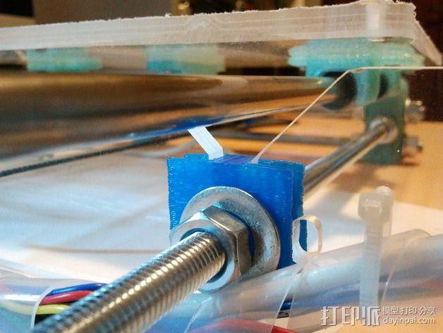 打印机框架连接器  3D模型  图2