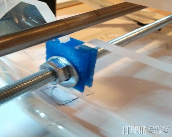 打印机框架连接器  3D模型  图3