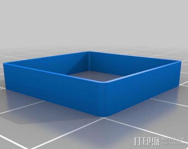 方形盒子 校准器  3D模型  图1