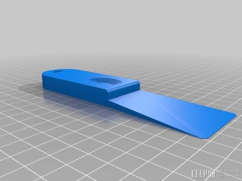 小铲子 小刮刀 3D模型  图1