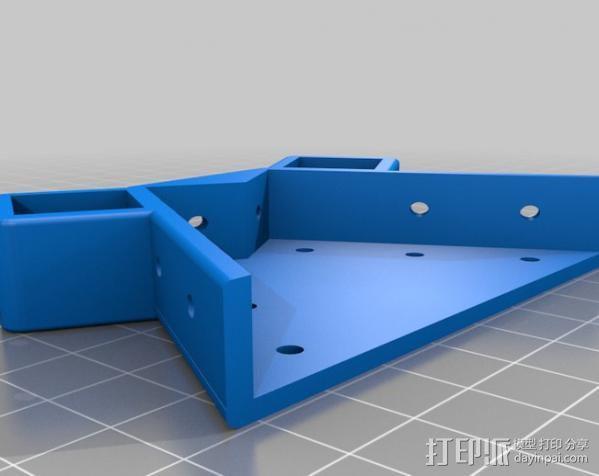 Mendel Max打印机连接棱柱 连接器  3D模型  图3