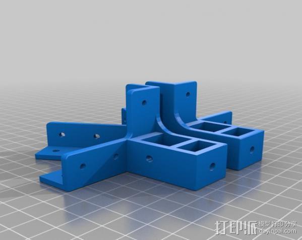 Mendel Max打印机连接棱柱 连接器  3D模型  图1