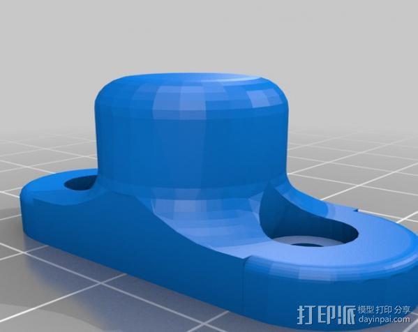 Mendel Max打印机连接棱柱 连接器  3D模型  图2