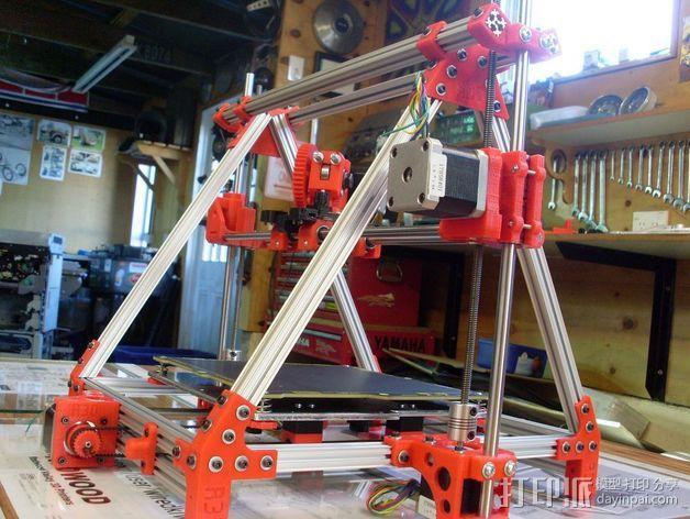Mendel Max打印机连接棱柱 连接器  3D模型  图10