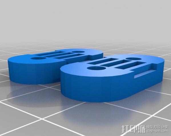 Mendel Max打印机连接棱柱 连接器  3D模型  图9
