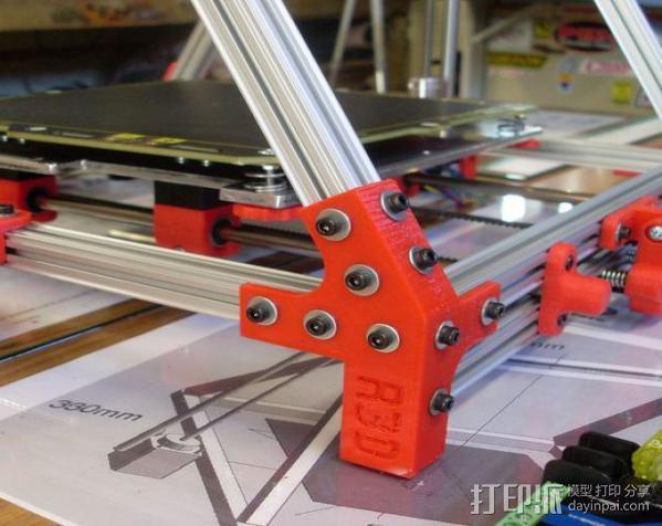 Mendel Max打印机连接棱柱 连接器  3D模型  图12