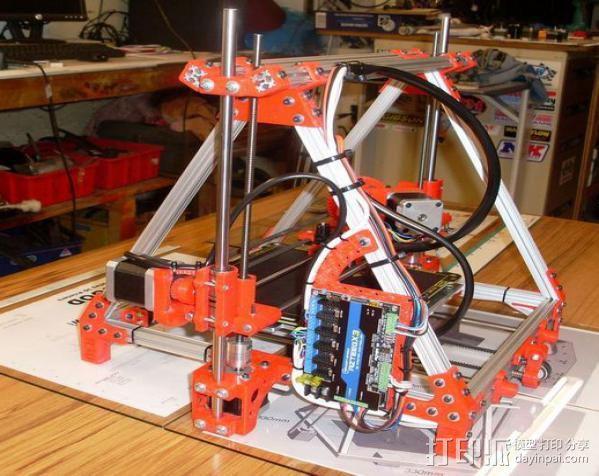 Mendel Max打印机连接棱柱 连接器  3D模型  图16