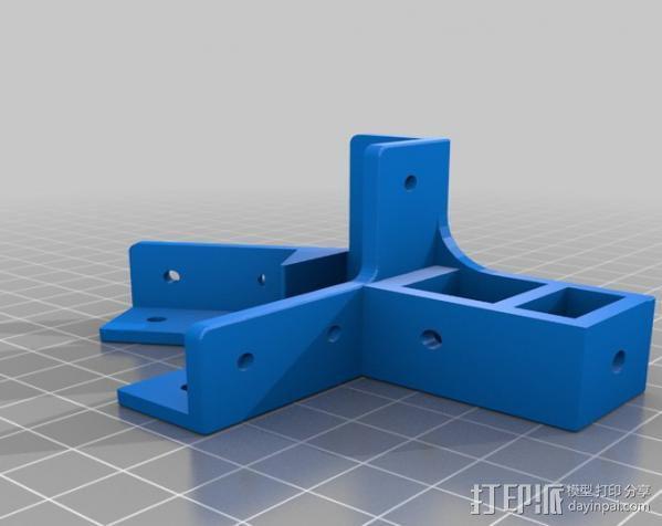 Mendel Max打印机连接棱柱 连接器  3D模型  图24