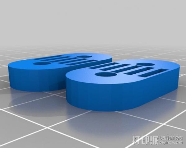 Mendel Max打印机连接棱柱 连接器  3D模型  图23