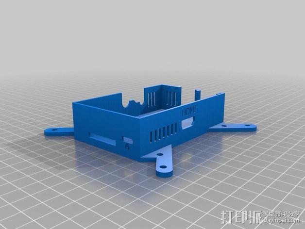 Raspberry Pi树莓派外盒 3D模型  图2