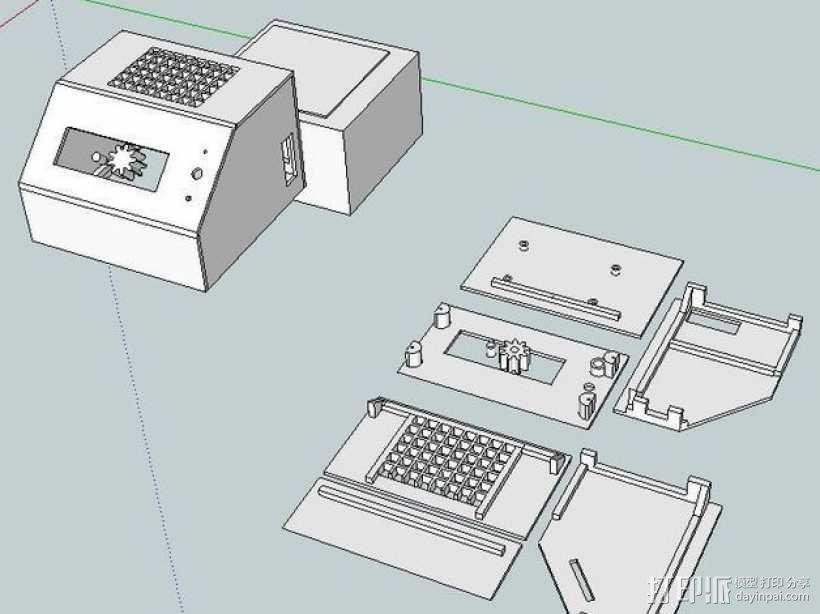 ramps 1.4主板控制器外壳 3D模型  图1