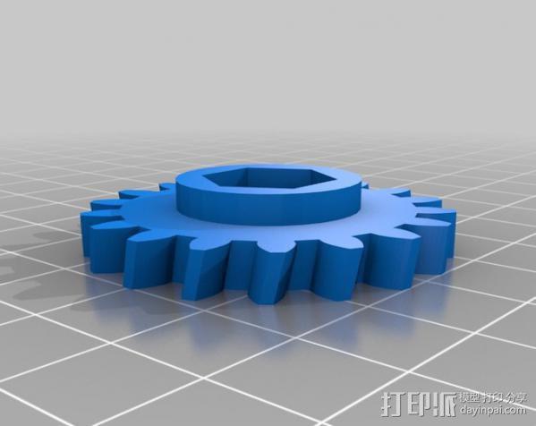 蜗杆传动器 3D模型  图4
