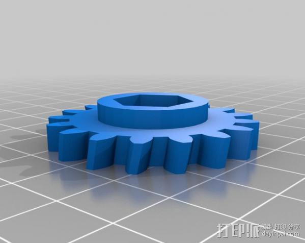 蜗杆传动器 3D模型  图5