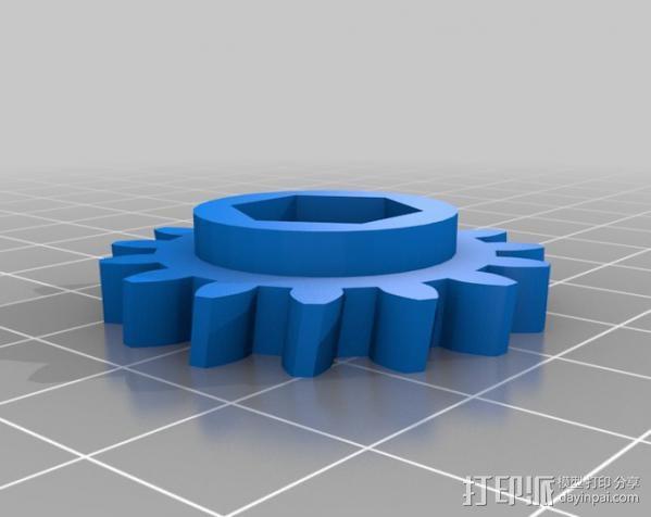 蜗杆传动器 3D模型  图3