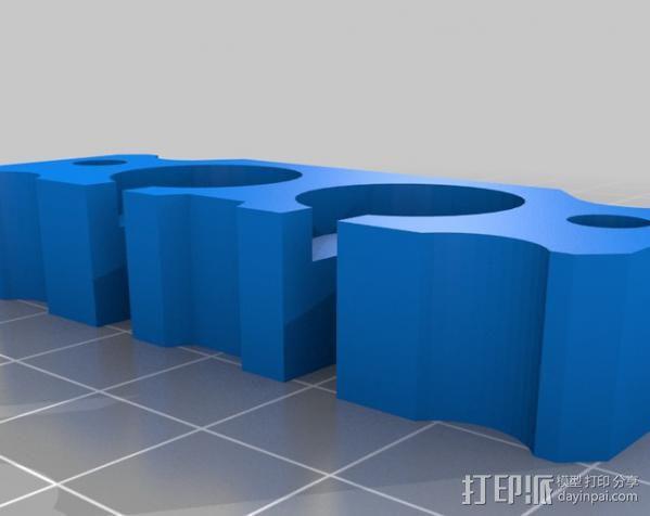 Bowden双挤出机喷头支架 3D模型  图11