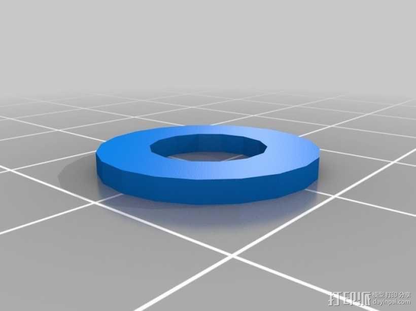 标准套件 M8六角螺母和垫片 3D模型  图2