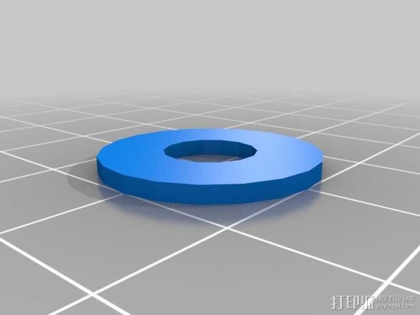 标准套件 M8六角螺母和垫片 3D模型  图5