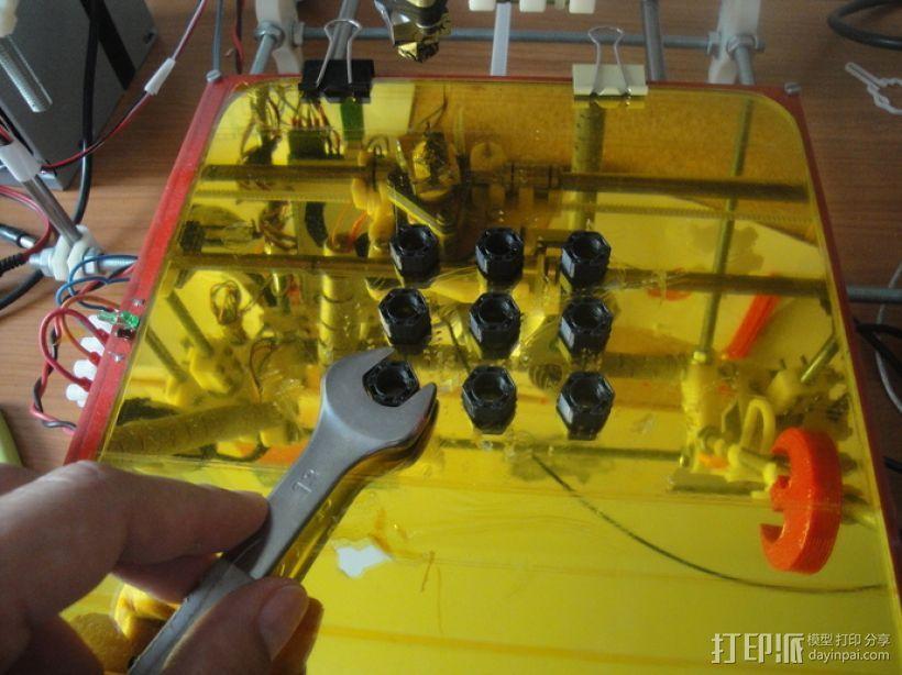 标准套件 M8六角螺母和垫片 3D模型  图10