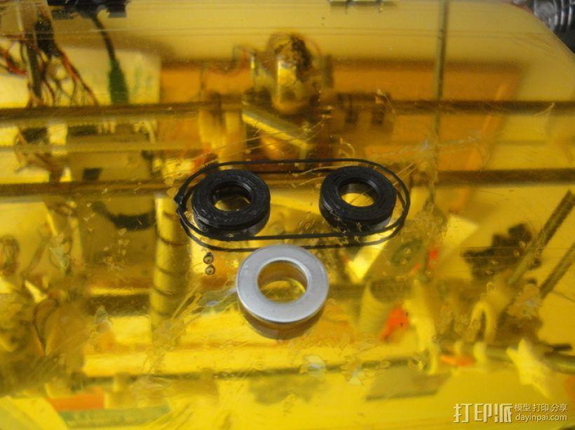 标准套件 M8六角螺母和垫片 3D模型  图12