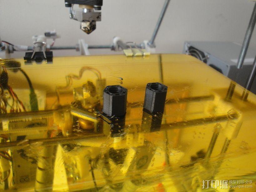 标准套件 M8六角螺母和垫片 3D模型  图11