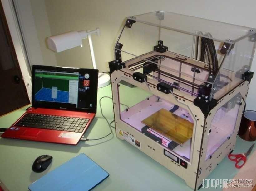 Makerbot Replicator打印机外罩 外框 3D模型  图1