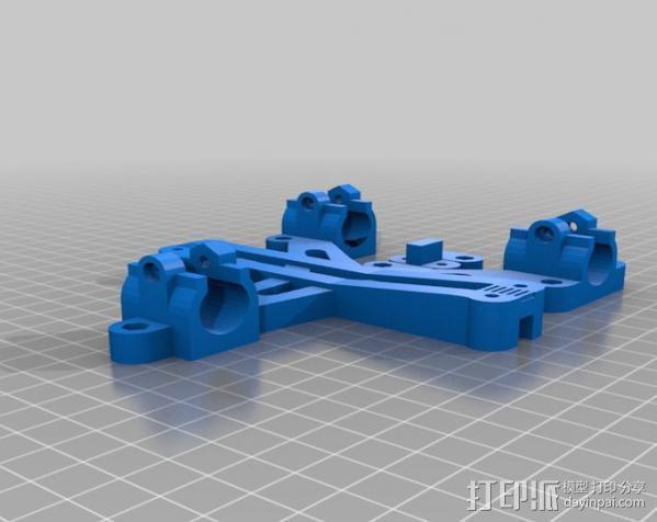 LM8/LM10直线轴承支架 3D模型  图2
