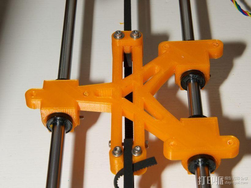 LM8/LM10直线轴承支架 3D模型  图1