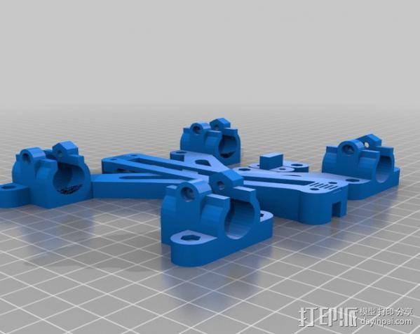 LM8/LM10直线轴承支架 3D模型  图3