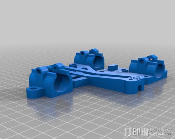 LM8/LM10直线轴承支架 3D模型  图5