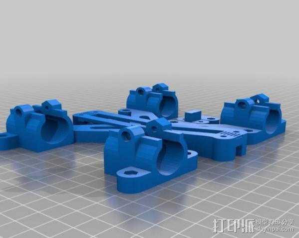 LM8/LM10直线轴承支架 3D模型  图4